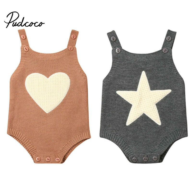 2020 Baby Summer Clothing Newborn Baby Boy Girl Knit Solid Ribbed Bodysuit Jumpsuit Cotton Outfits Sleeveless Sunsuit 0-18 Month