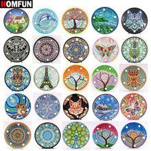 HOMFUN – peinture diamant Mandala 5D, paysage, broderie, strass, bricolage, cadeau de noël ou d'halloween, lampe à LED