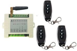 Image 2 - 433mhz RF 220V elektrikli kapı/perde/kepenkler limit kablosuz radyo uzaktan kumanda anahtarı İleri ve ters motorları