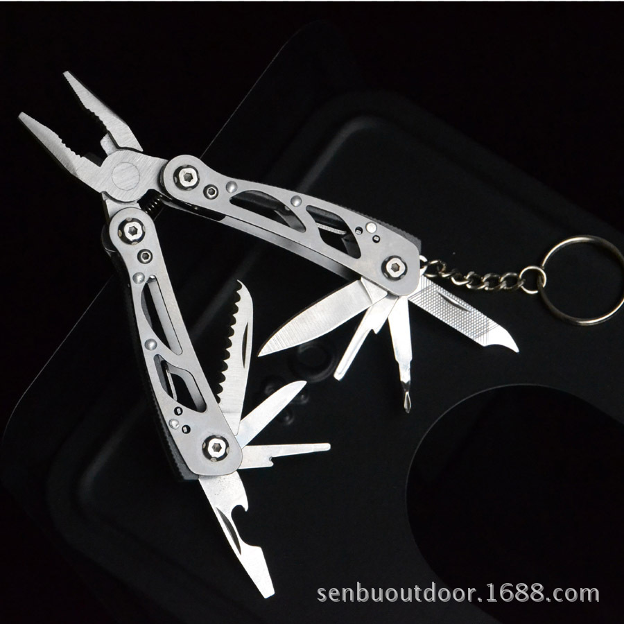 Knife Clamp Small Confuse Your Clamp All-Steel Small Gift Pliers EDC Gadget Black And White Two-color Cross Border