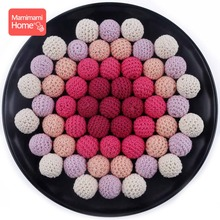 Mamihome 100pc 20mm Wooden Crochet Beads Baby Teether Knitting Beads Diy For Bracelet Necklace Nurse Gifts Children'S Goods Toys цена 2017