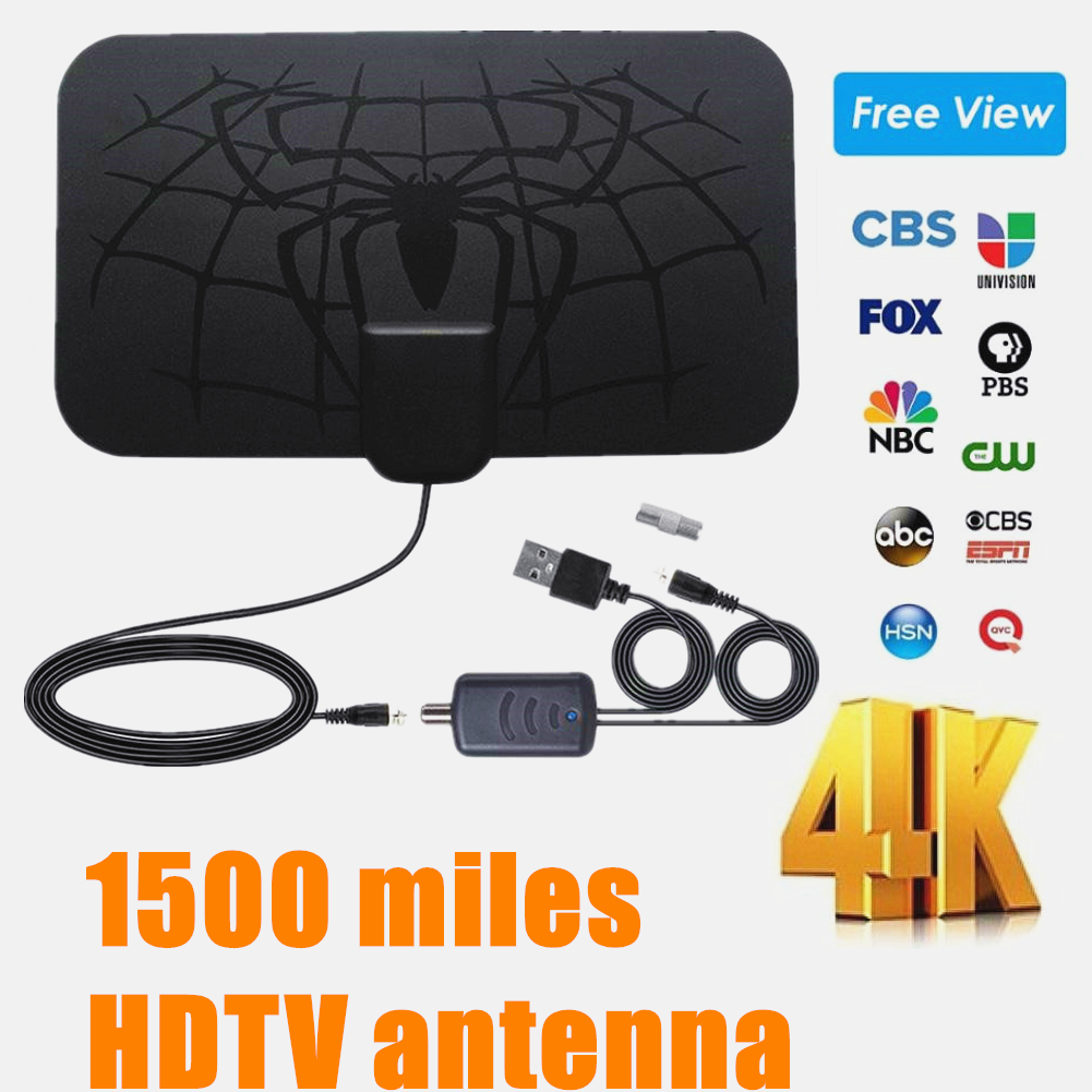 Hengshanlao Indoor 1500 Miles Digitale Antena Tv Antenne Amplified Hdtv Antenne 4K DVB-T2 Freeview Isdb-Tb Lokale Kanaal broadcast