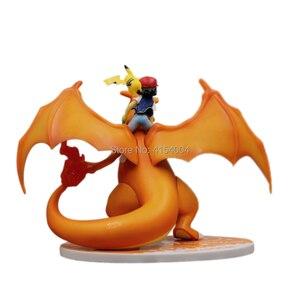 Image 2 - אנימה Charizard אפר Ketchum PVC פעולה איור אנימה צעצוע 160cm משחק Charizard Ketchum צלמית אסיפה צעצועי דיורמה