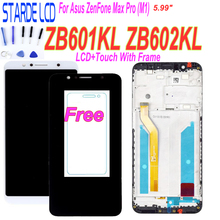 For Asus ZenFone Max Pro (M1) ZB601KL ZB602KL LCD Display Touch Screen Panel Digitizer Assembly with Frame with Tempered Glass все цены