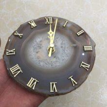 Fatias de fatia de ágata Ágata relógio naturais de quartzo pedra preciosa cura decoração da sua Casa