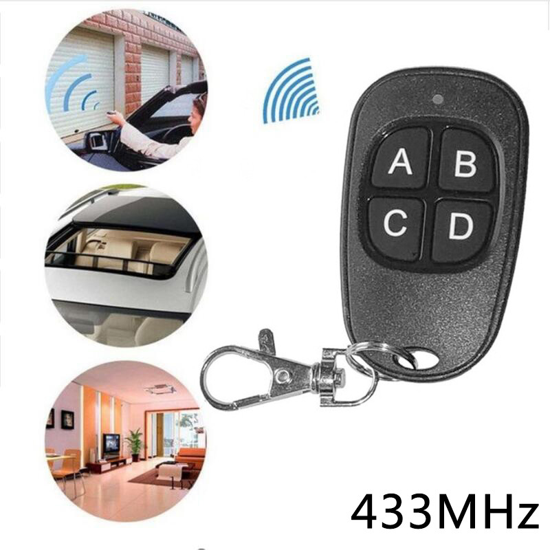 1 X 6V Wireless Cloning Electric Gate Garage Door Remote Control Key Fob 433mhz.