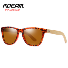 Top Brand Designer KDEAM Hand-made Sunglasses Quality Natural Wooden Bamboo Polarized Sun Glass Classic Gentry Accessories 2019