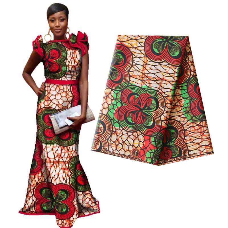 Echte Wax Ankara Afrikaanse Batik Dubbele Prints Stof Afrika Tissu Top Kwaliteit Katoen Naaien Materiaal Voor Kleding Maken Craft Diy