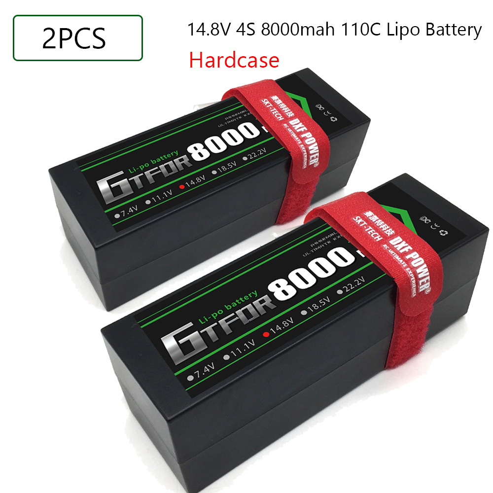 GTFDR RC <font><b>Lipo</b></font> Battery 14.8V <font><b>8000mAh</b></font> <font><b>4S</b></font> RC Battery <font><b>Lipo</b></font> 110C with Deans Plug for 1/8 1/10 off-road Car RC Truck RC Truggy Buggy image