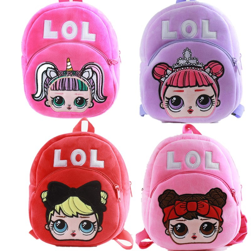 Mochila Cartoon Kids Plush Backpack Toy School Bag Children's Sac A Dos Enfant LOLS Baby Backpack Boy Girl Baby Student Bags
