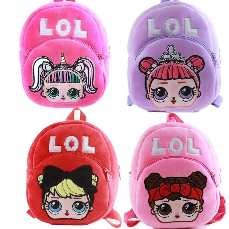 Mochila Cartoon Kids Plush Backpack Toy School Bag Children's Sac A Dos Enfant LOLS Baby Backpack Boy Girl Baby Student Bags