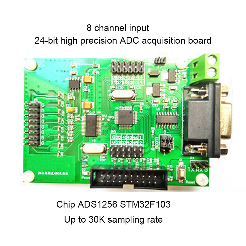 ADS1256 Module 24 bit 8 channel ADC Data Acquisition board and high Precision US