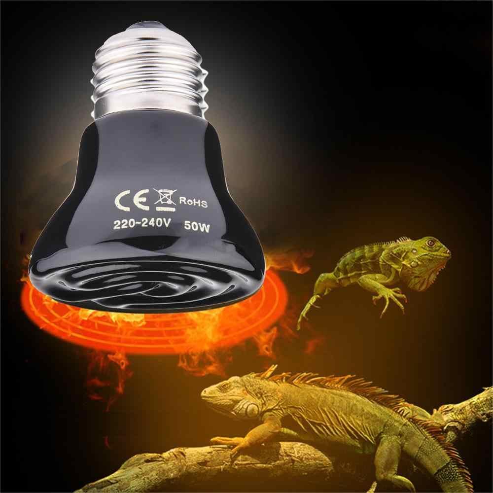 Uzak kızılötesi Pet ısıtma lambası Khan buhar seramik ısı lambası Pet ısıtma ampul kertenkele kaplumbağa sürüngenler kutusu isıtıcı 20W /50 W/75 W/100 W