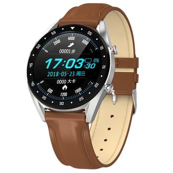 L7 Bluetooth Smart Watch Men Ecg+Ppg Hrv Heart Rate Blood Pressure Monitor Ip68 Waterproof Smart Bracelet Android Ios--Silver Bo