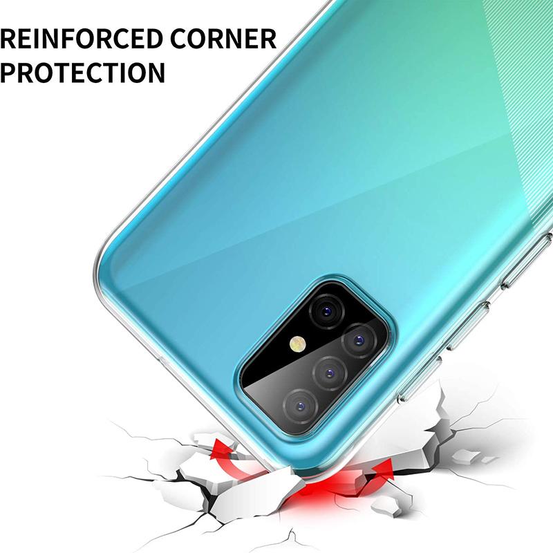 Ultrathin Phone Back Funda for Samsung Galaxy A01 Core A11 A21 A21S A31 A41 A51 A71 A81 A91 5G 360 Full Cover Case Soft TPU Bags