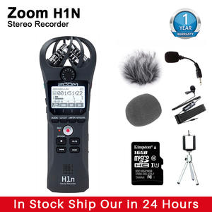 Stereo Microphone Voice-Recorder Audio Zoom H1n Kingston16gb Portable Sd-Card Handy