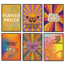 70s Home Decor| Grainy Gradient Aura Poster| Sun and Moon Print| Retro Rainbow Print| Butterfly Decor Canvas Print Poster