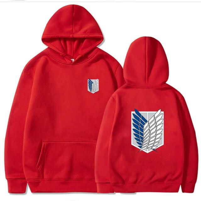 Attack on Titan Hoodie Men Fashion Loose Pullovers Casaul Tops oversize hoodie sweatshirt women Regular pullover hoodies 4
