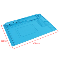 Thermal Insulation Insulation Silicone Pad Desk Mat 45*30cm Large Size With Magnetic Section For Soldering Welding Repair