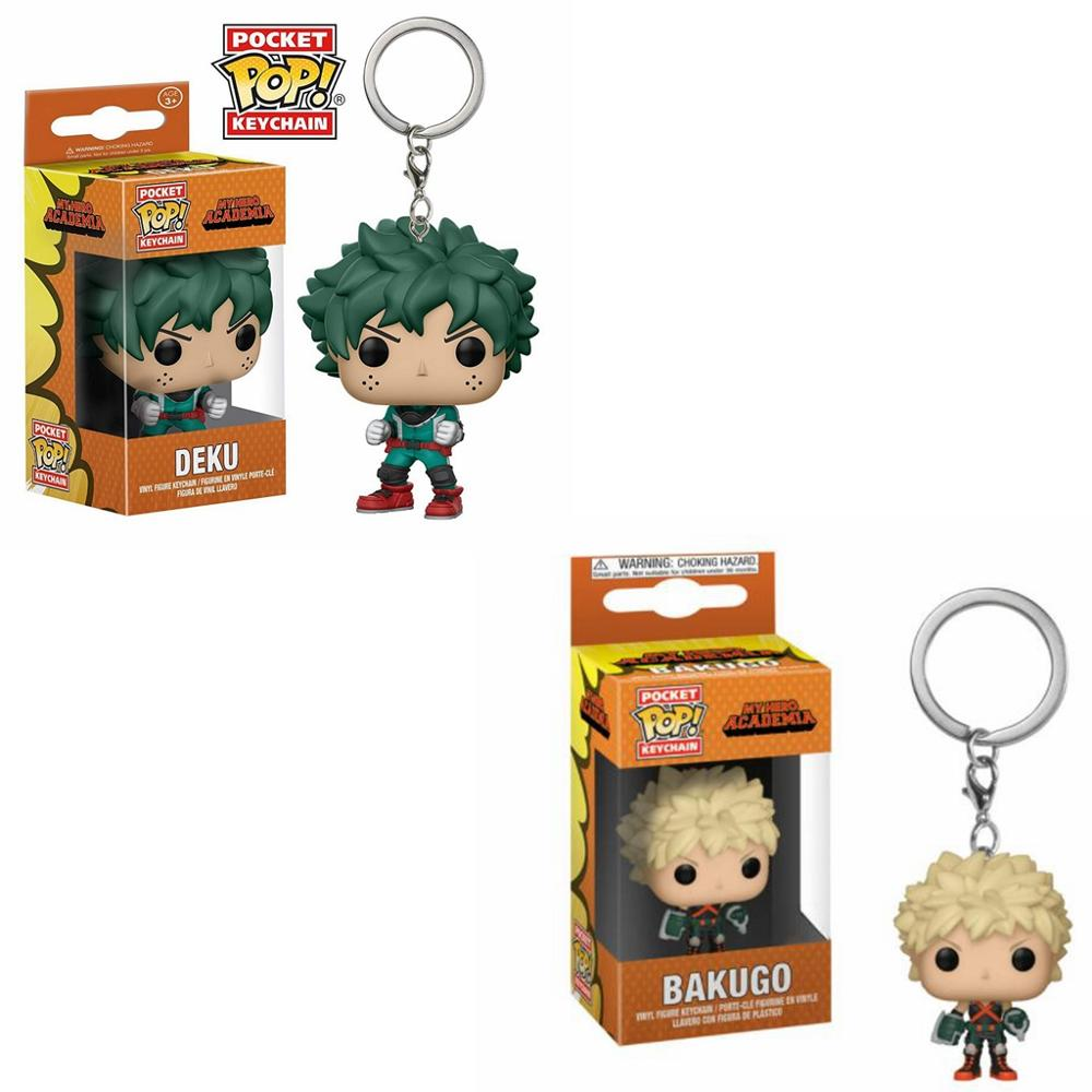 Funko POP Pocket My Hero Academia Keychain Deku And Bakugo Action Figure Toys