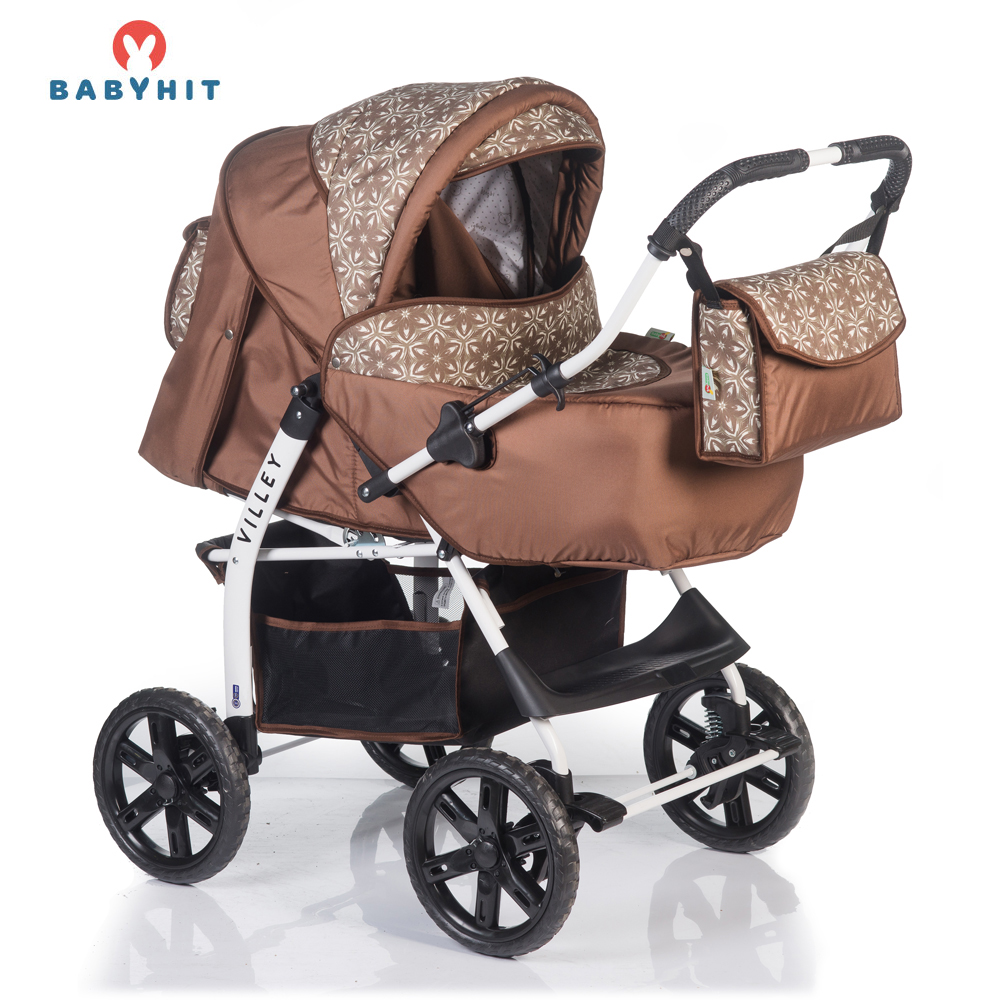 Lightweight Stroller BABYHIT VILLEY Mother and Kids stroll baby for boys and girls children strollers Brown lightweight stroller babyhit amber plus green for boys and girls children baby strollers