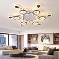 Новый современный светодиодный потолочный светильник для гостиной  спальни  коричневого цвета  фурнитура + акриловый скандинавский потоло...