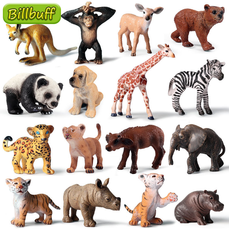 Hot Sale Mini Wild Zoo Farm African Savanna Lion Animal King Bird Series Leopard Cat Panther Jaguar Model Toys for Chidlren Gift