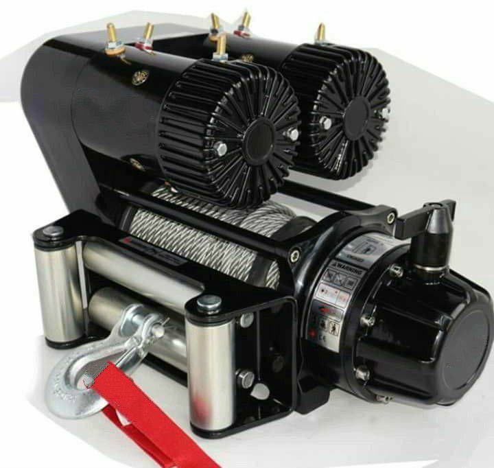 12v 12000lbs 5440kg Electric Winch Winch With High Quality Double Motor Winch