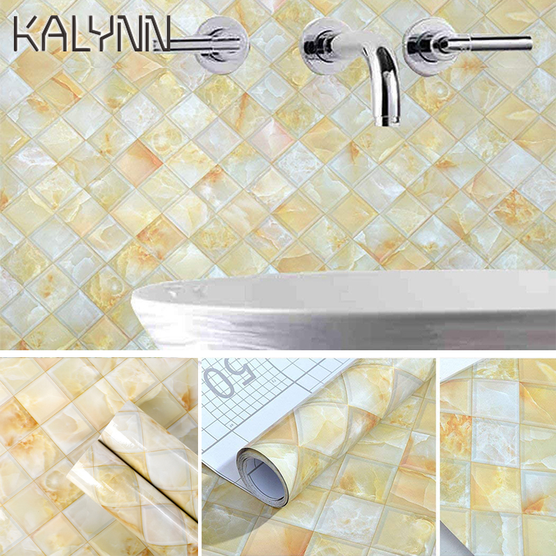 Crystal Grid Pattern Self Adhesive Wallpaperl For Bathroom Kitchen Cupboard Countertops Contact Paper Marble Vinyl Wall Stickers