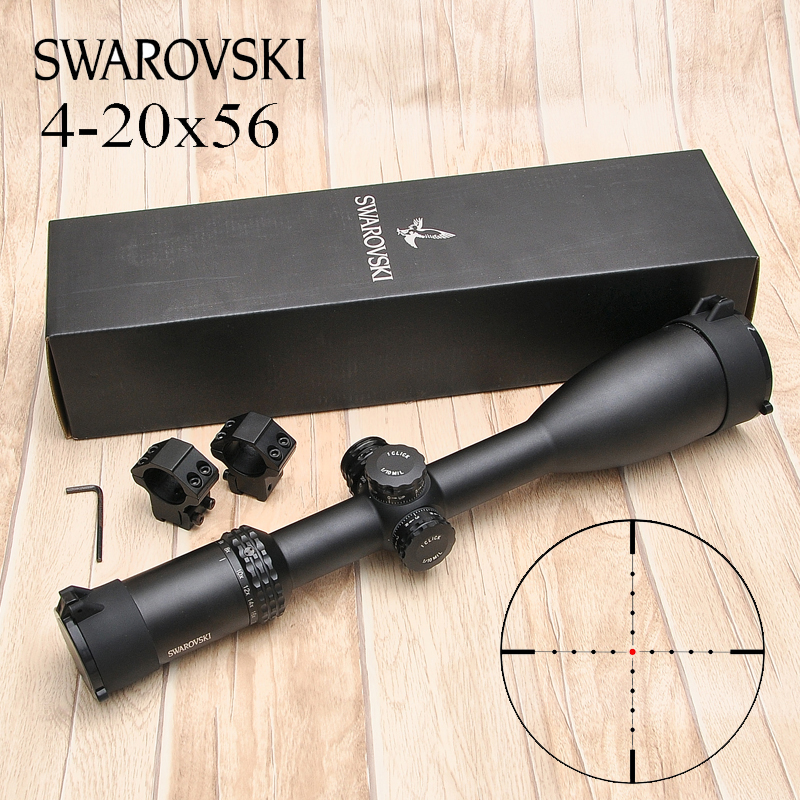 Swarovskl 4-20X56 Tactics Riflescope Hunting White Letter Marking Rifle Scopes Opticals Sights Free Shipping