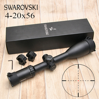 Swarovskl 4 20X56 Tactics Riflescope Hunting White Letter Marking Rifle Scopes Opticals sights Free shipping