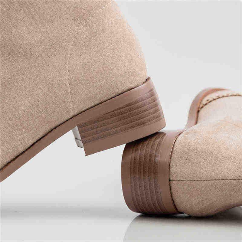Odetina ผู้หญิง Cross-tied Brogues รองเท้าข้อเท้า Elegant Fretwork แฟชั่นสแควร์ Toe Lady Lace Up Casual กลางส้นเท้า oxford รองเท้า