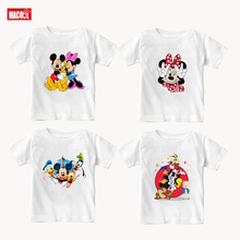 Children Summer Clothes Cartoon Mickey  Cotton T Shirts Mouse Short Sleeve T-shirt Donald Baby Boy Girl T Shirt O-Neck Tee Shirt цена и фото