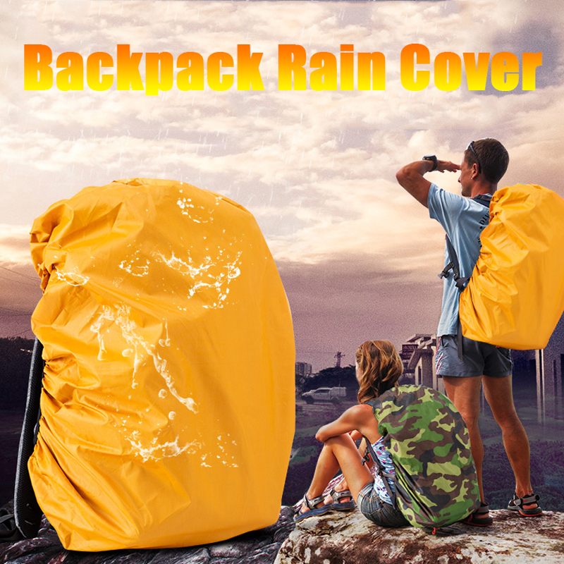 35/45L Adjustable Waterproof Backpack Rain Cover Shoulder Bag Case Protection Military Army Bag On For Outdoor Camping Hiking