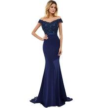Женское вечернее платье с открытыми плечами BEPEITHY, Элегантное Длинное платье ручной работы, модель 2020 платье Русалка с бисером выпускного вечера, 100%