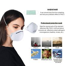 FFP1 FFP2 FFP3 N95 KF94 3-Lay Protective Mask Cup With Breathing Valve High Efficiency Filtration 3D Fitting Design Light
