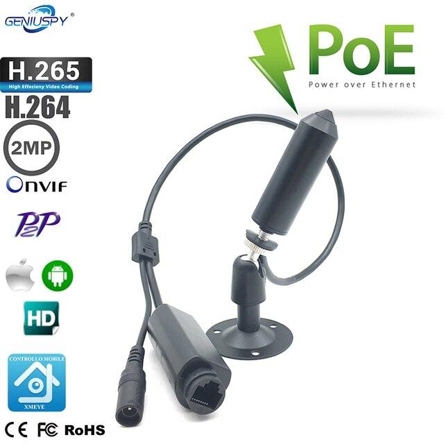 1080P POE mocy Mni ukryta kamera IP nadzór wideo sieciowe uchwyt na aparat Onvif kamera IP Mini Bullet kamera internetowa otwór zawleczki