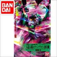Bandai-figura de Gundam EVA-01, modelo Original, película, móvil, juguetes para niños