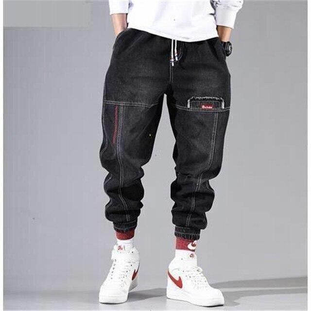 Pantalones Cargo de Hip Hop para hombre, Pantalón elástico Harun, para correr, Otoño e Invierno 4