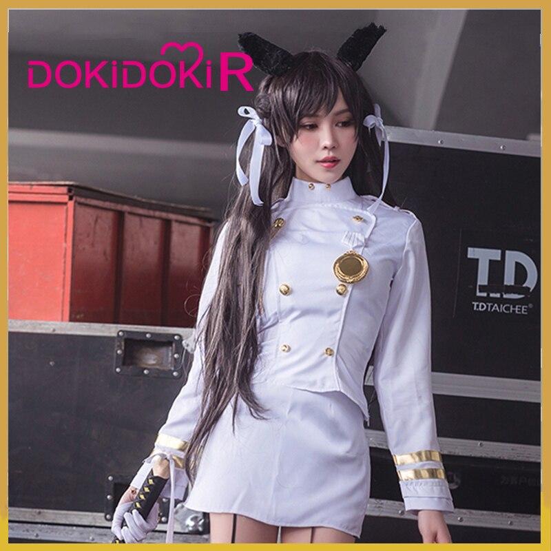 DokiDoki-R Game Cosplay Azur Lane IJN Atago Costume Women White Suits Azur Lane IJN Atago Cosplay Costume
