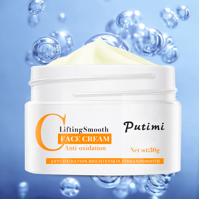 Anti-Oxidation Brighten Face Cream Shrink Pores Hyaluronic Acid Moisturizer Cream Anti Aging Eye Cream Dark Circles Eye Massager 15
