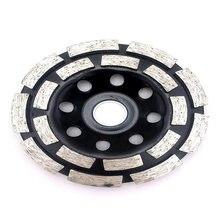 Disques abrasifs ronds à Double rangée, 115/125/180mm, accessoires de Segment de tasse, outil meule disque de béton, lame de scie pour le travail des métaux