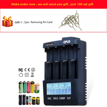Opus BT-C3100 V2.2 Digital Intelligent 4 Slots AA/AAA LCD Battery Charger Opus BT - C3100 V2.2 Battery Charger r29 new topcon bc 19b charger for topcon total stations bt 32q 2 pin battery