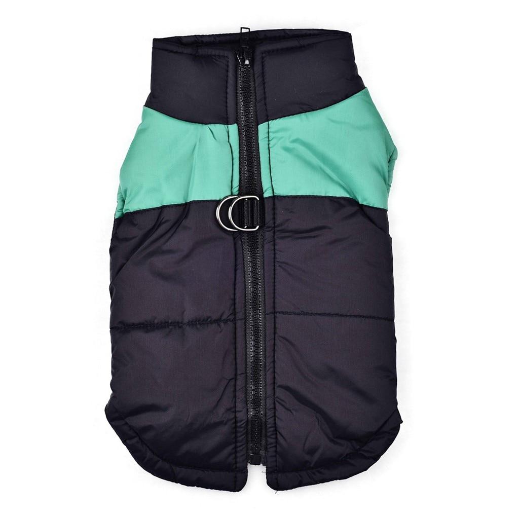 Осень-зима, модная удобная одежда для домашних животных, классический цвет, подходящий пуховый жилет, модная удобная Удобная практичная одежда для отдыха - Цвет: Зеленый