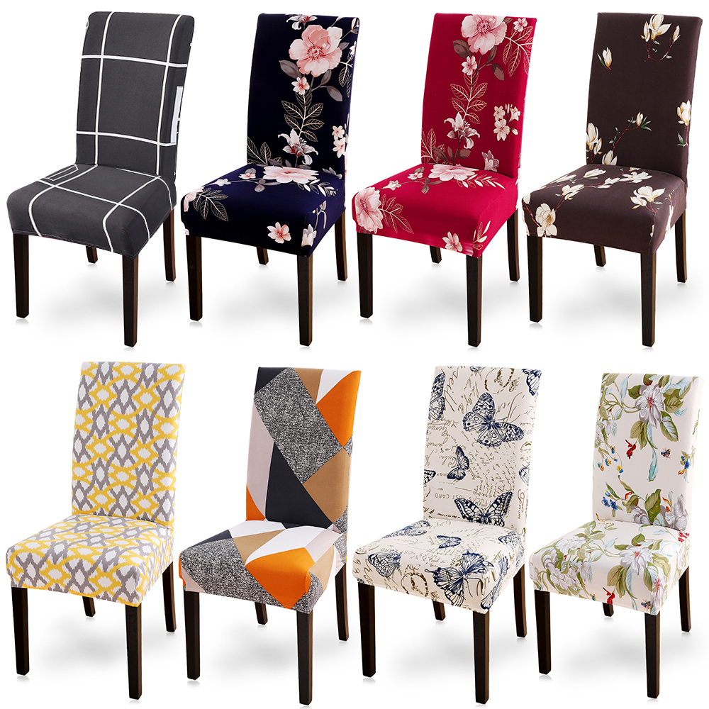 Printing Zebra Stretch Chair Cover Big Elastic Seat Chair Covers Painting Slipcovers Restaurant Banquet Hotel Home Decoration