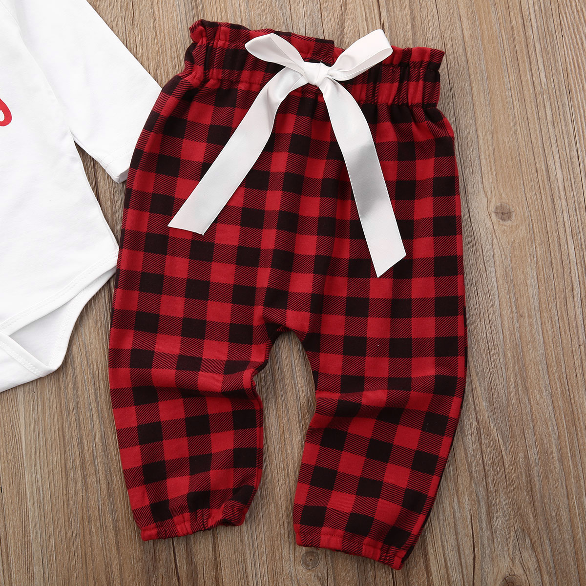 Christmas Sets Toddler Kids Baby Girl Xmas Santa Party Dress Boy Outfits Clothes
