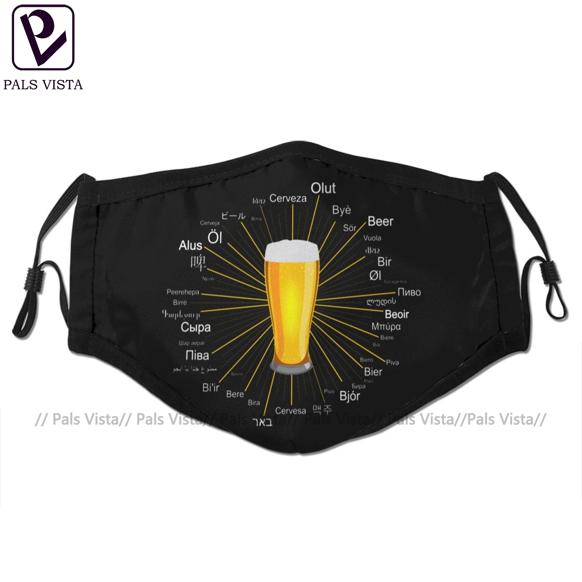 Bier Mouth Face Mask Beer In 45 Different Languages Facial Mask Kawai Cool With 2 Filters For Adult
