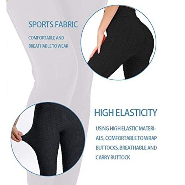 Women Sport leggings Gym Exercise High Waist Fitness leggins High elasticity Tights Running Athletic Trousers push up Yoga pants 6