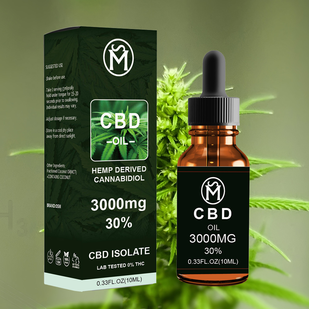 OSM Premium CBD  Hemp Essential Oil Extract From Natural Hemp Plant 500-3000mg Strong Purity CBD Inside For Pain And Insomnia