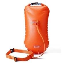 Надувной флотационный мешок спасательный круг ПВХ Водонепроницаемый сухой мешок Плавательный рюкзак каяк рафтинг Дрифтинг Кемпинг Туризм Дайвинг хранение